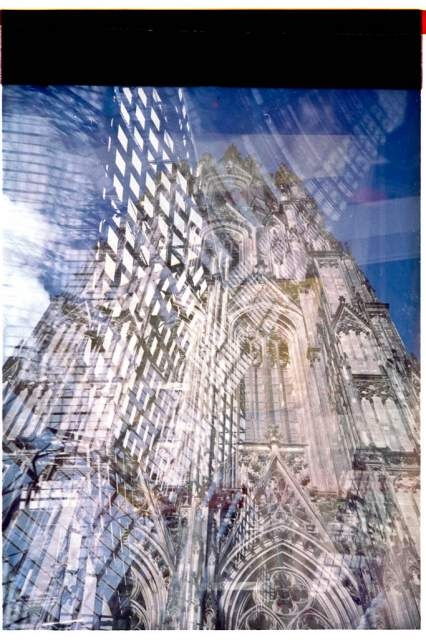 Lomo, color, slides, double exposure