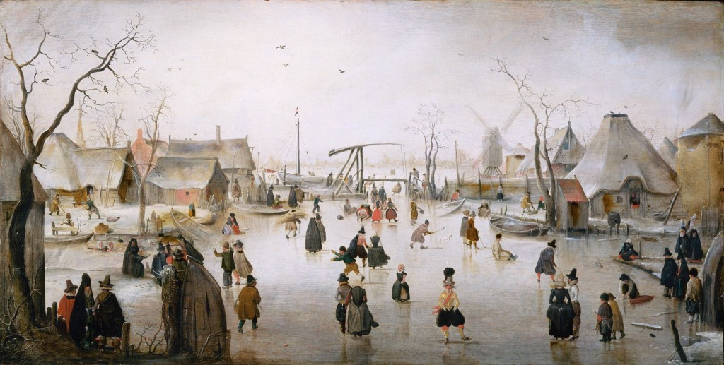 On the ice by Hendrick Avercamp (1610)